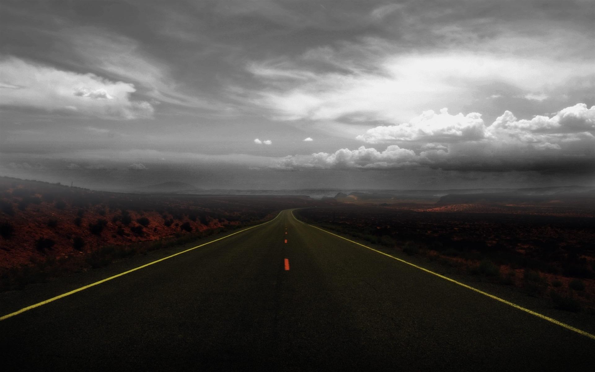 Carretera Solitaria Wallpaper