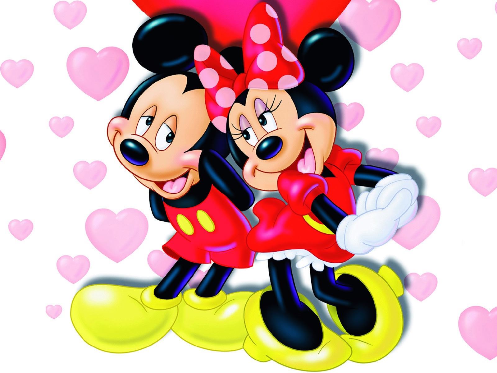 Mickey y Minnie la pareja perfecta