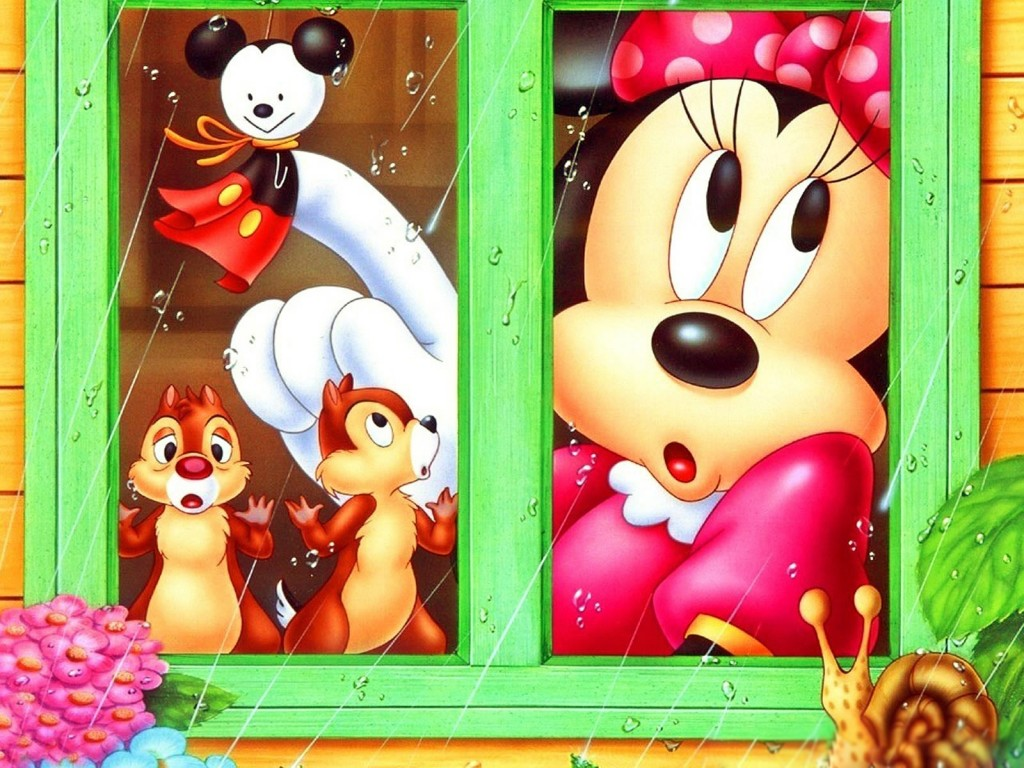 Minnie con Chip y Chop