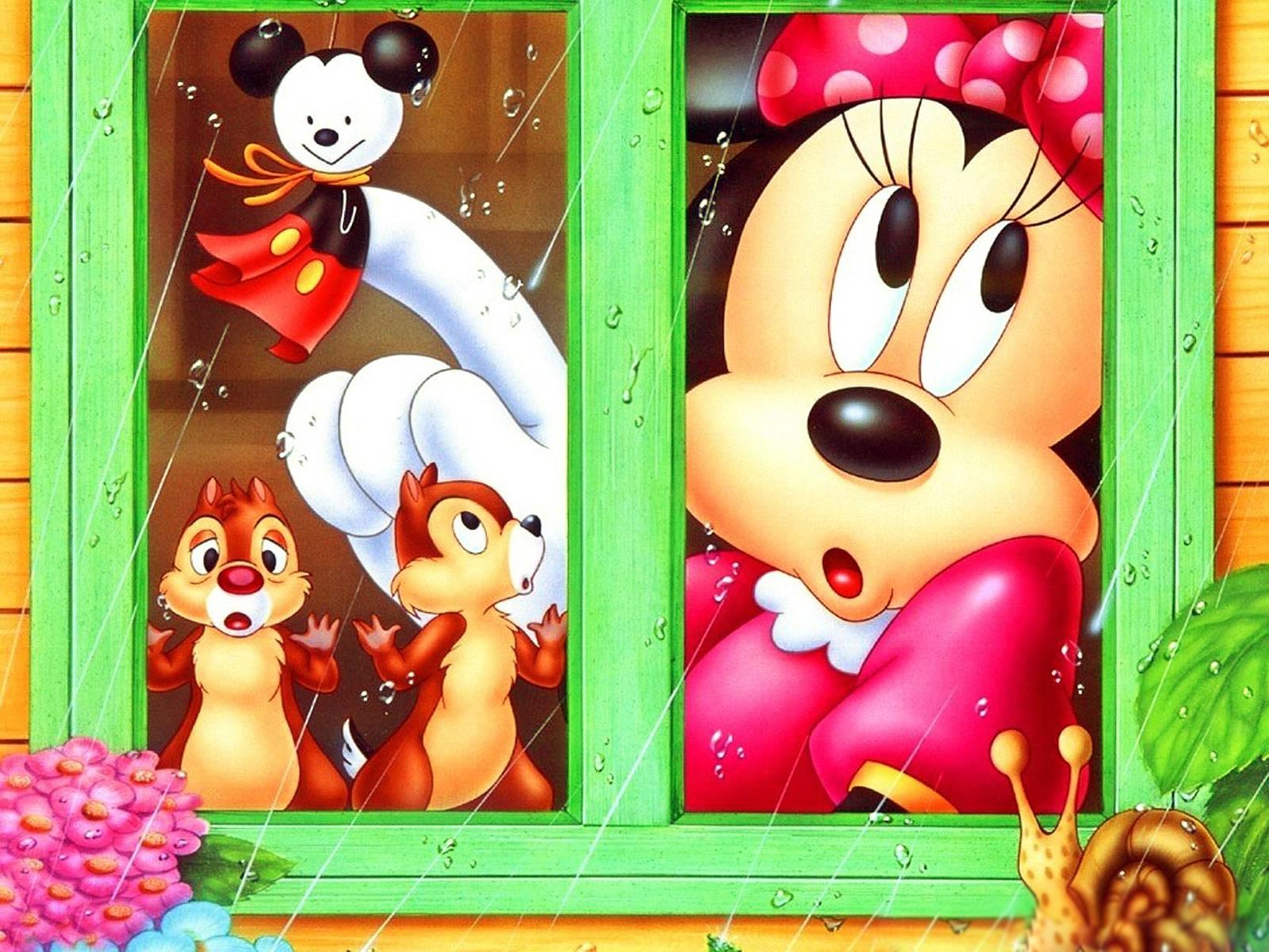 Minnie con Chip y Chop