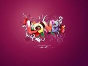 Palabra Love de Colores