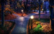 Parque al Anochecer