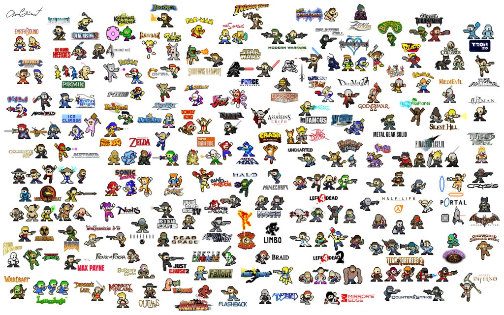 Cartoon Characters With 5 Letters In Their Name : Héroes de videojuegos pixelados wallpapers