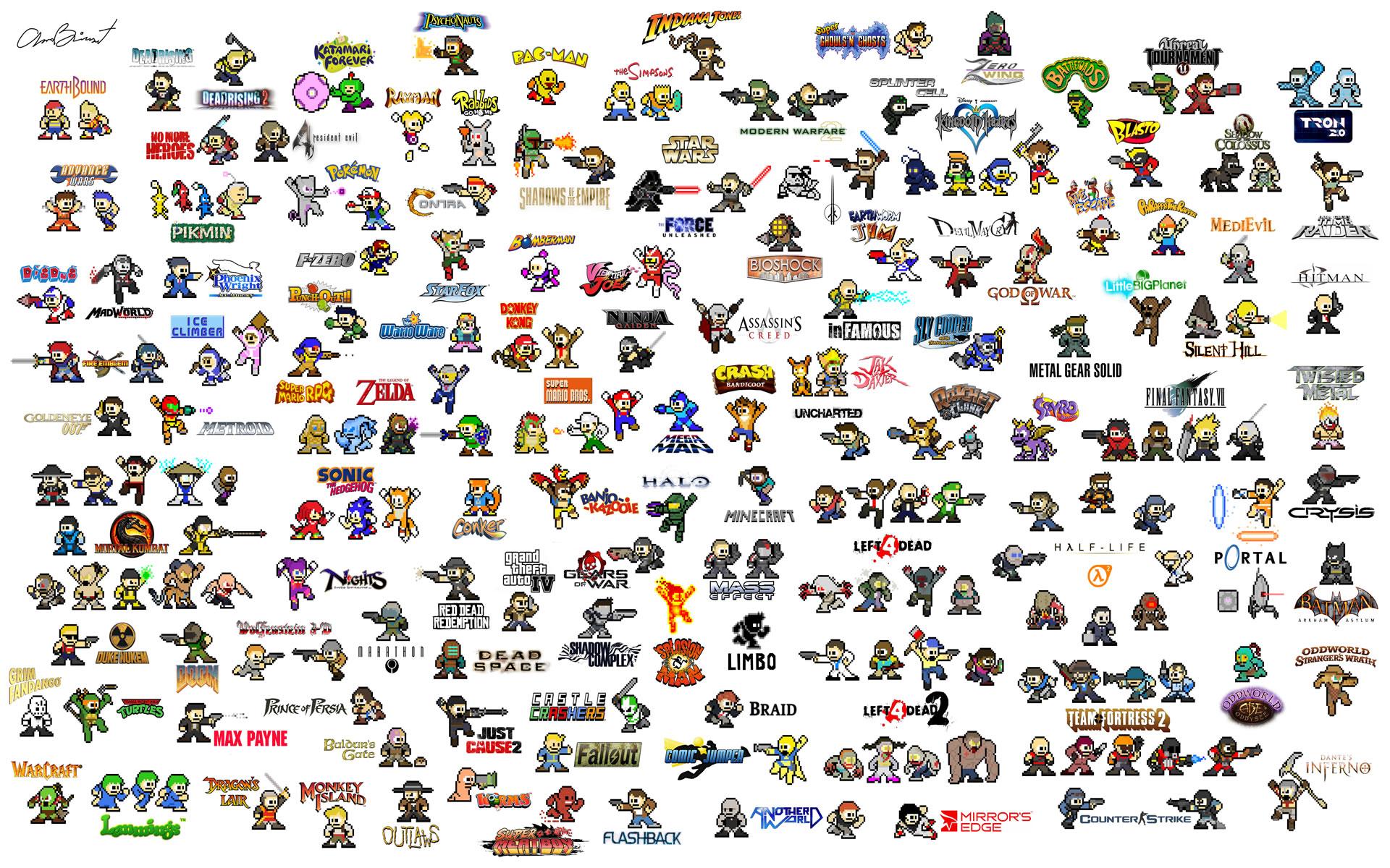 Héroes de Videojuegos Pixelados