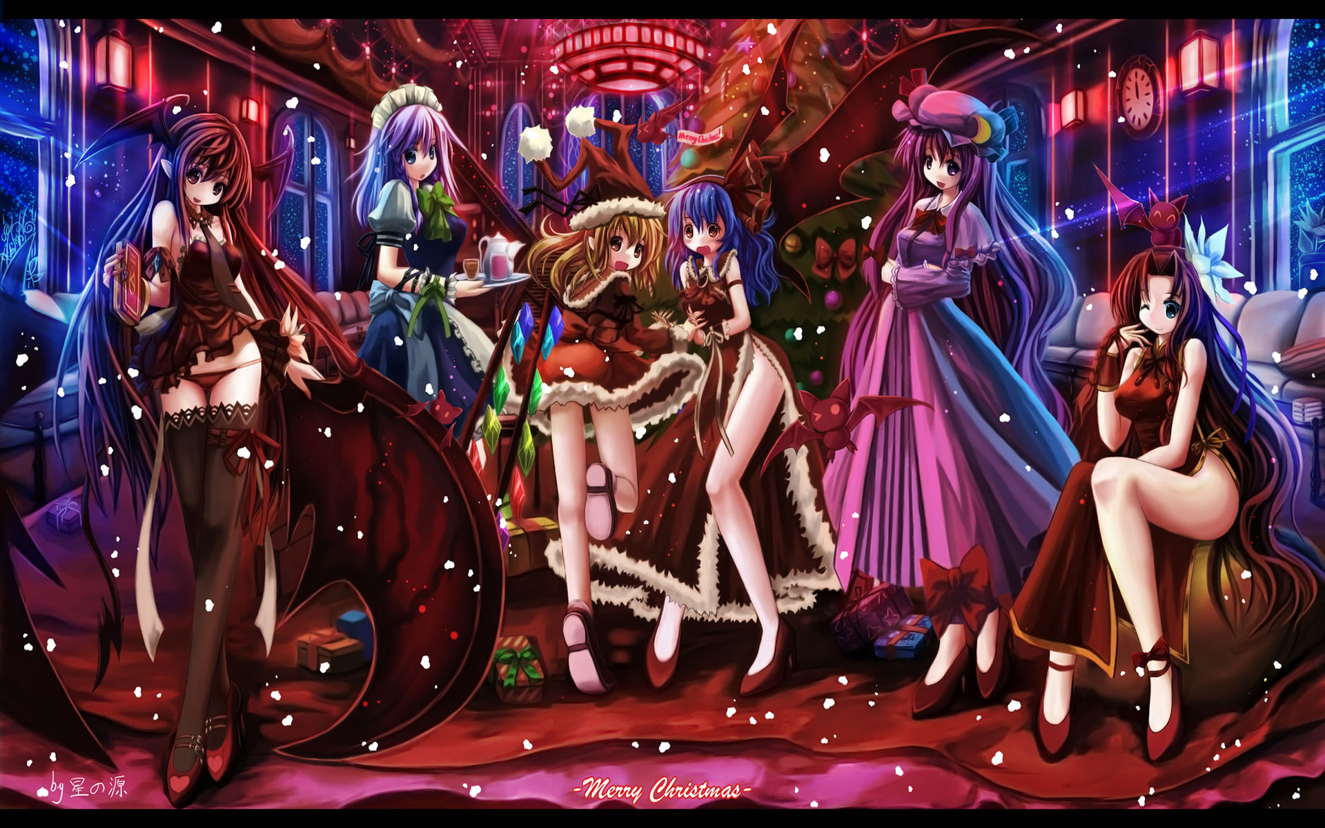 Merry christmas anime wallpapers - Anime merry christmas wallpaper ...
