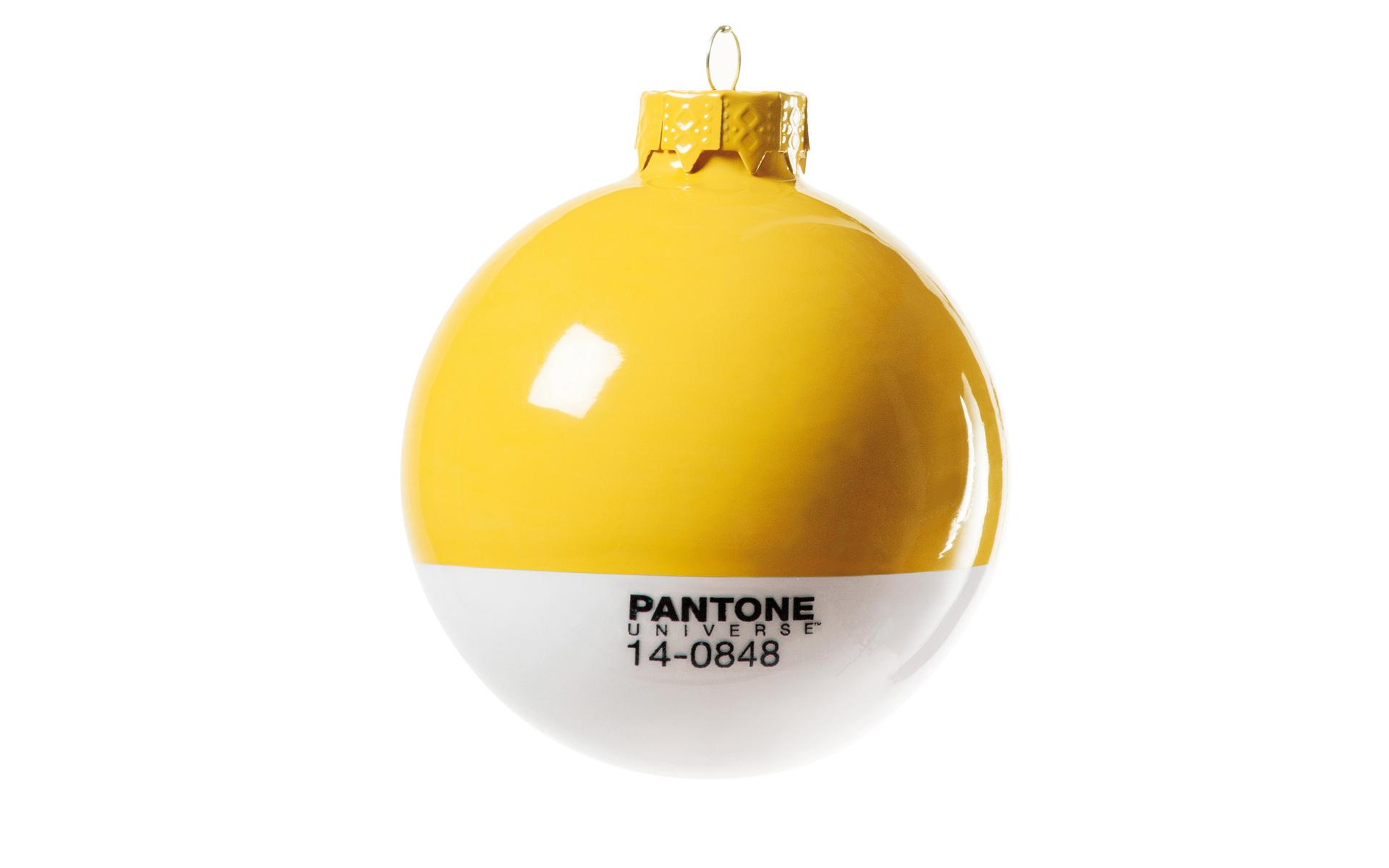 Wallpaper Bola Navidad Pantone Amarilla