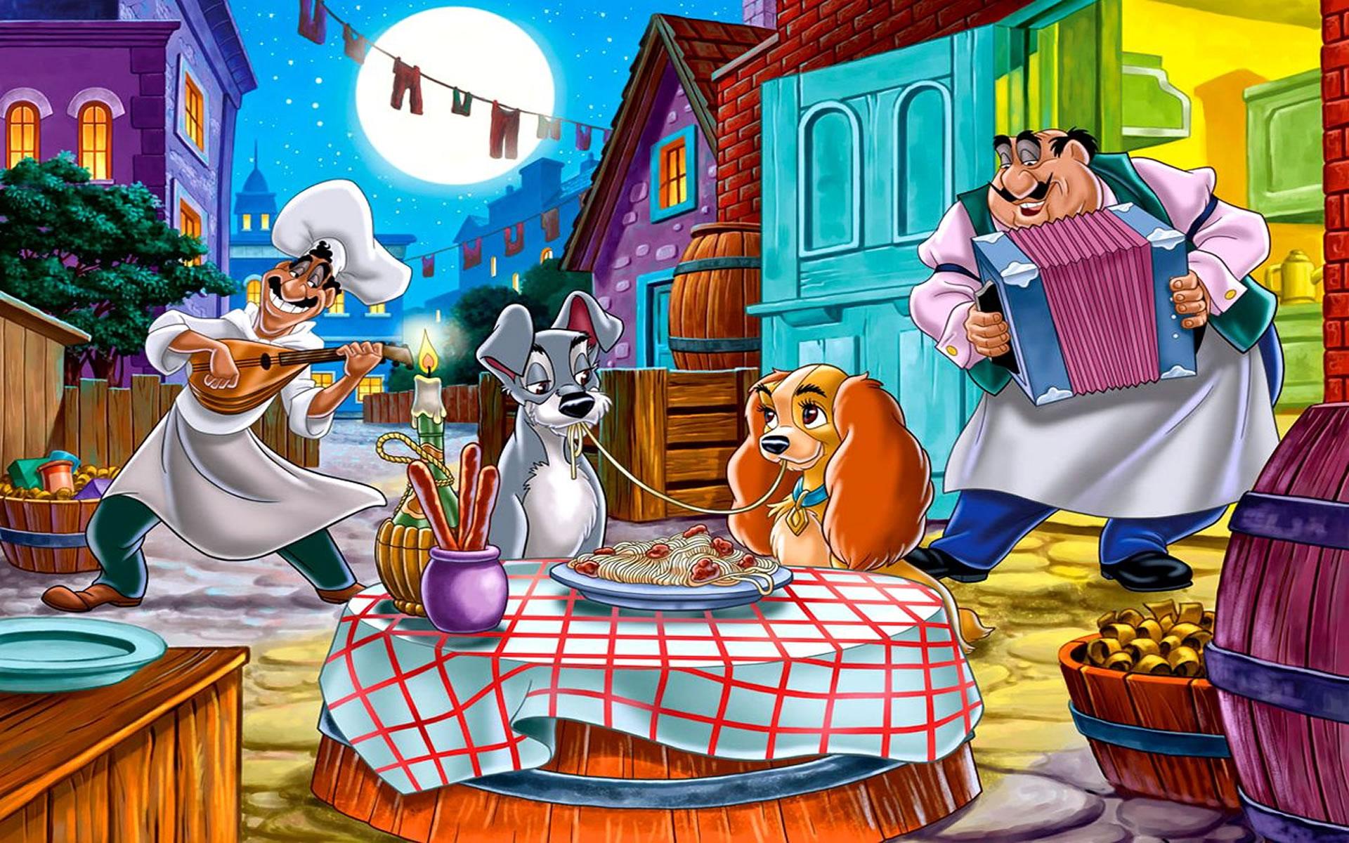 Fondo Disney La Dama y el Vagabundo