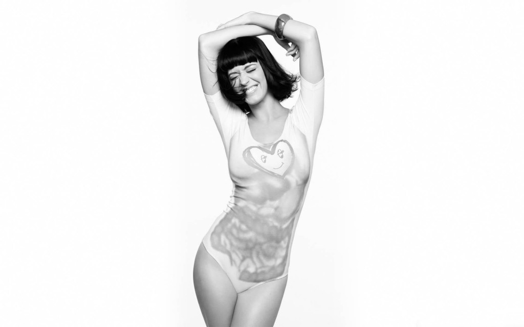 Katy Perry Wallpaper Blanco y Negro