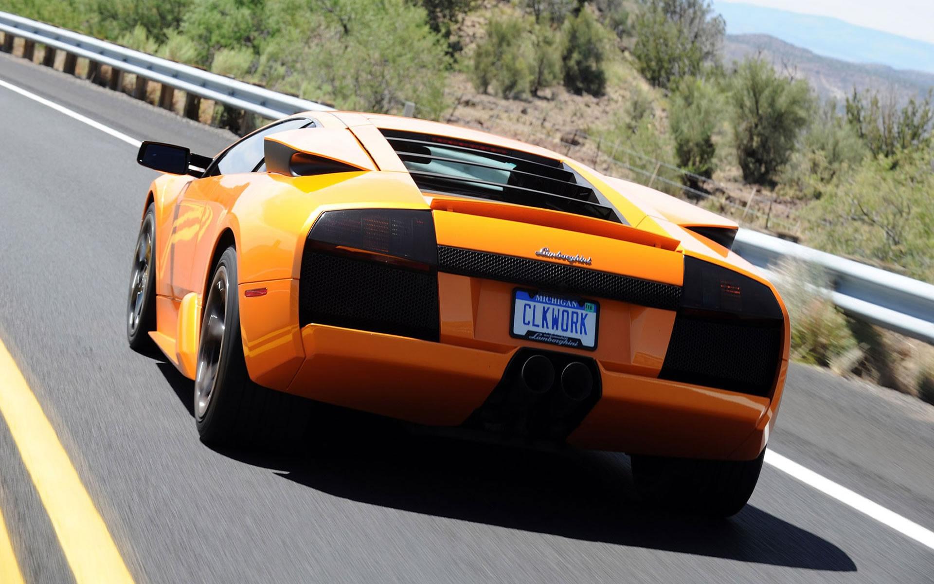 Trasera Lamborghini Naranja