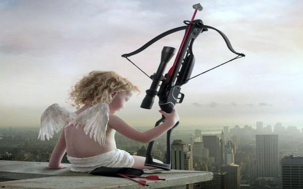 Joven Cupido con Arco de Precisión