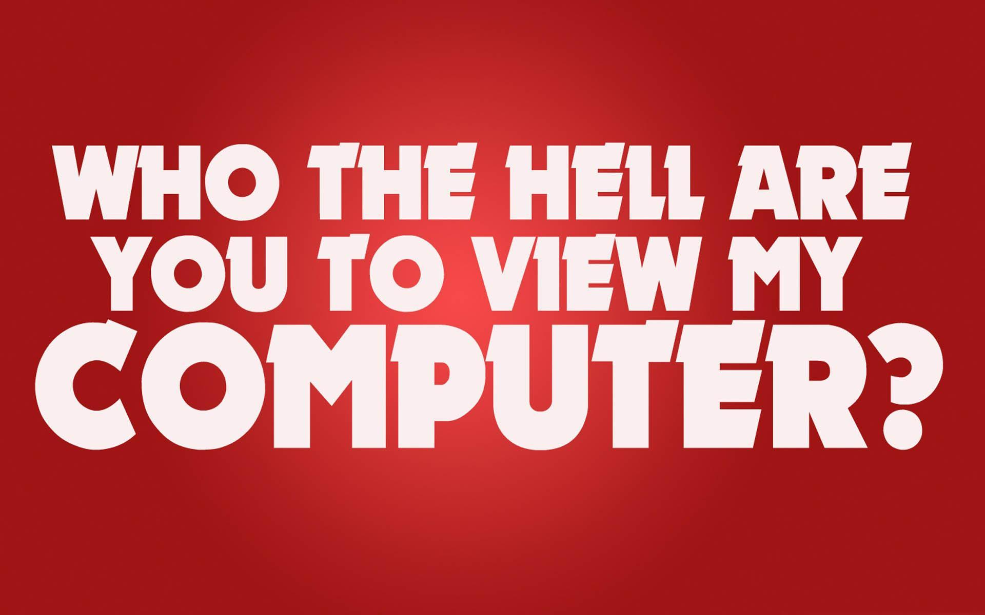 Por qué miras el fondo wallpaper de mi ordenador