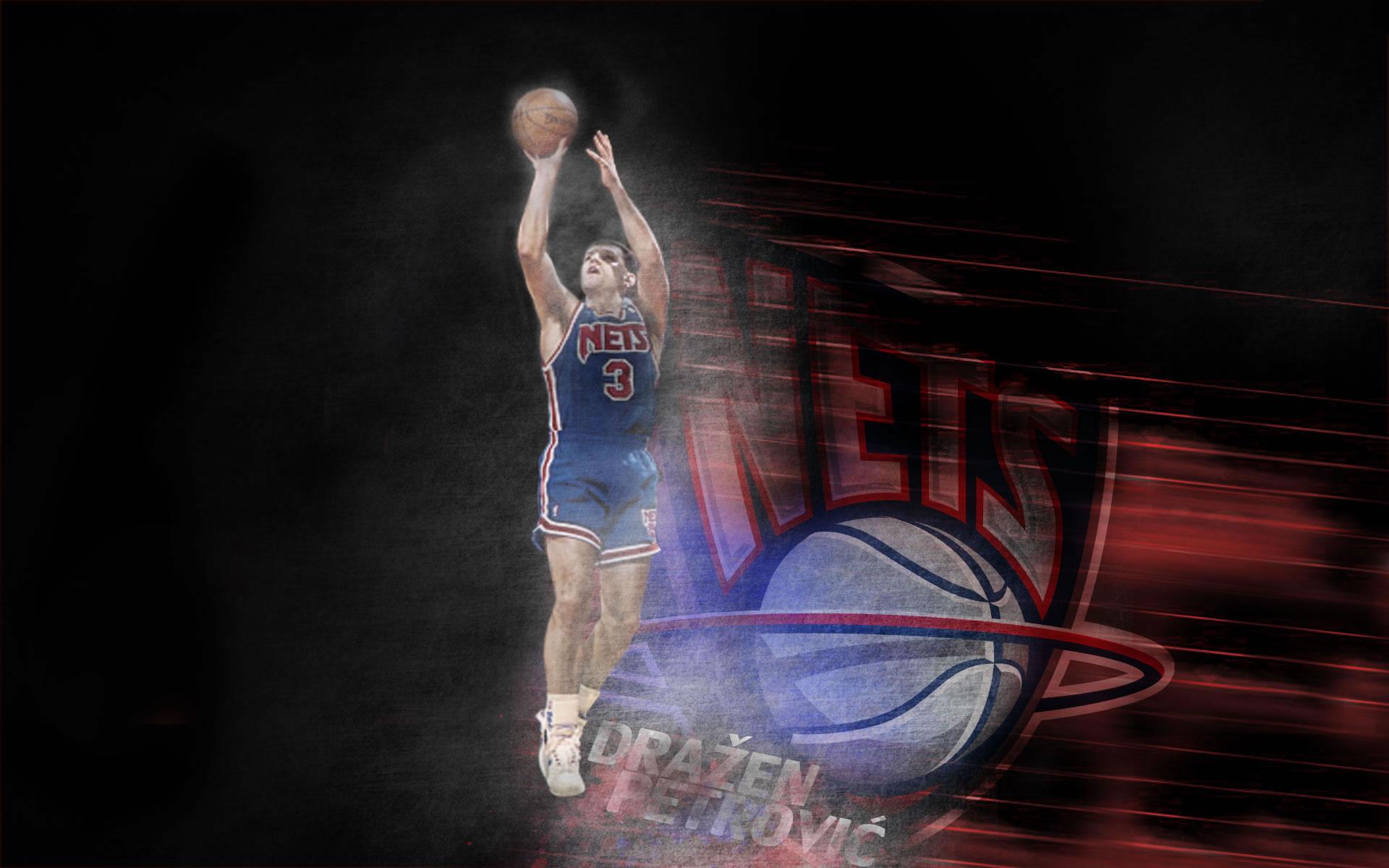 Wallpaper Drazen Petrovic con los New Jersey Nets