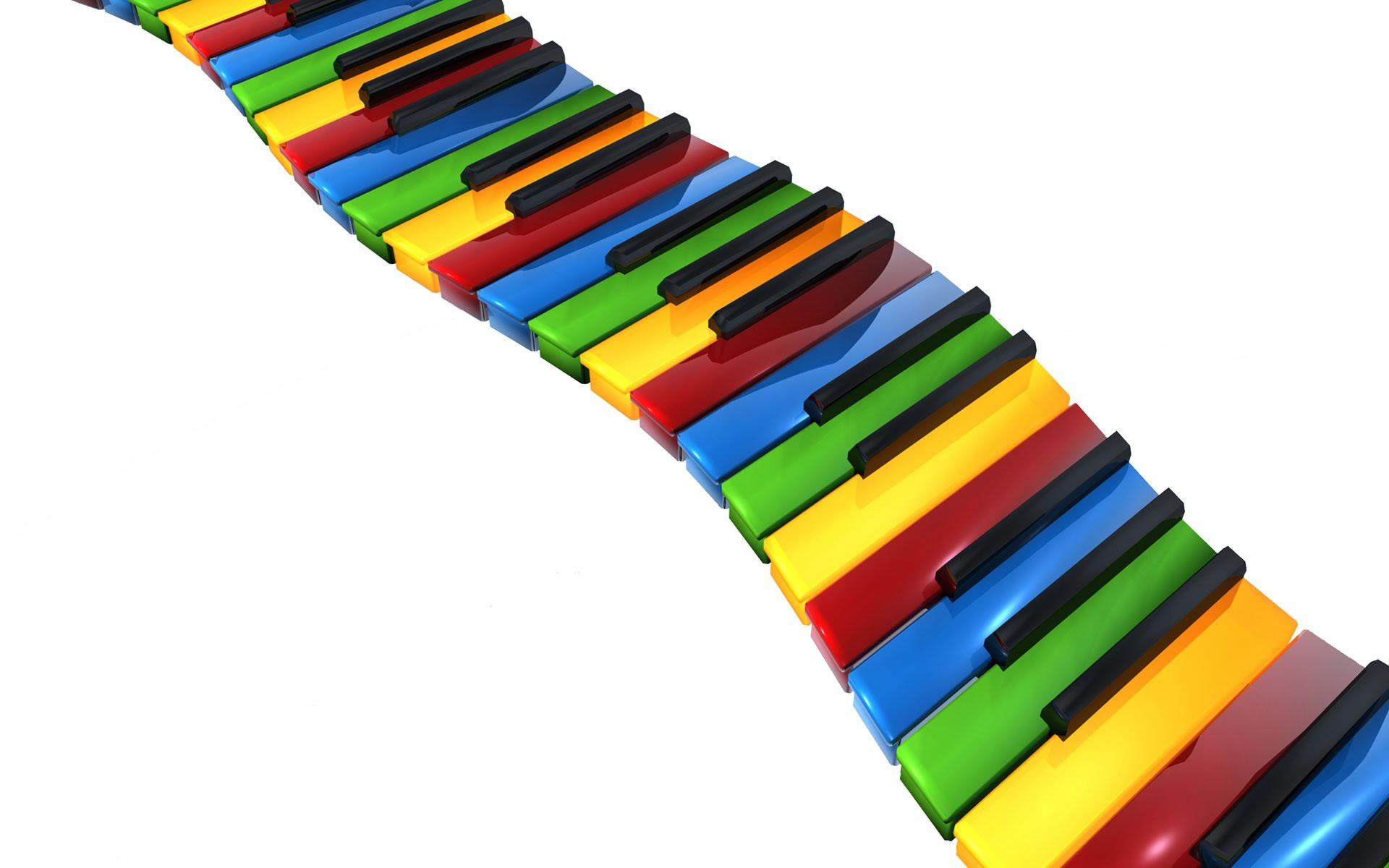Teclas de piano multi color