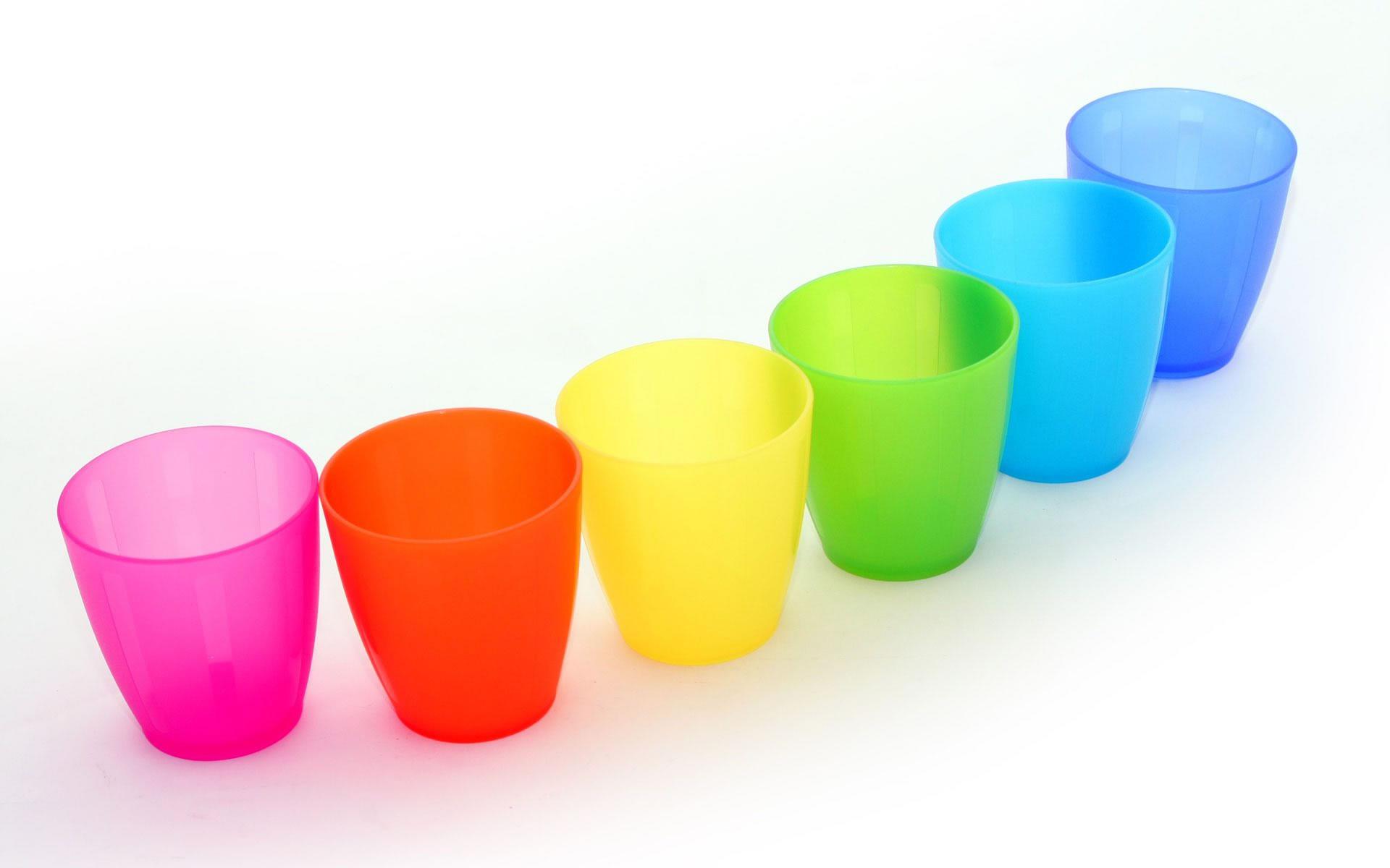 Vasos de Plástico de Colores