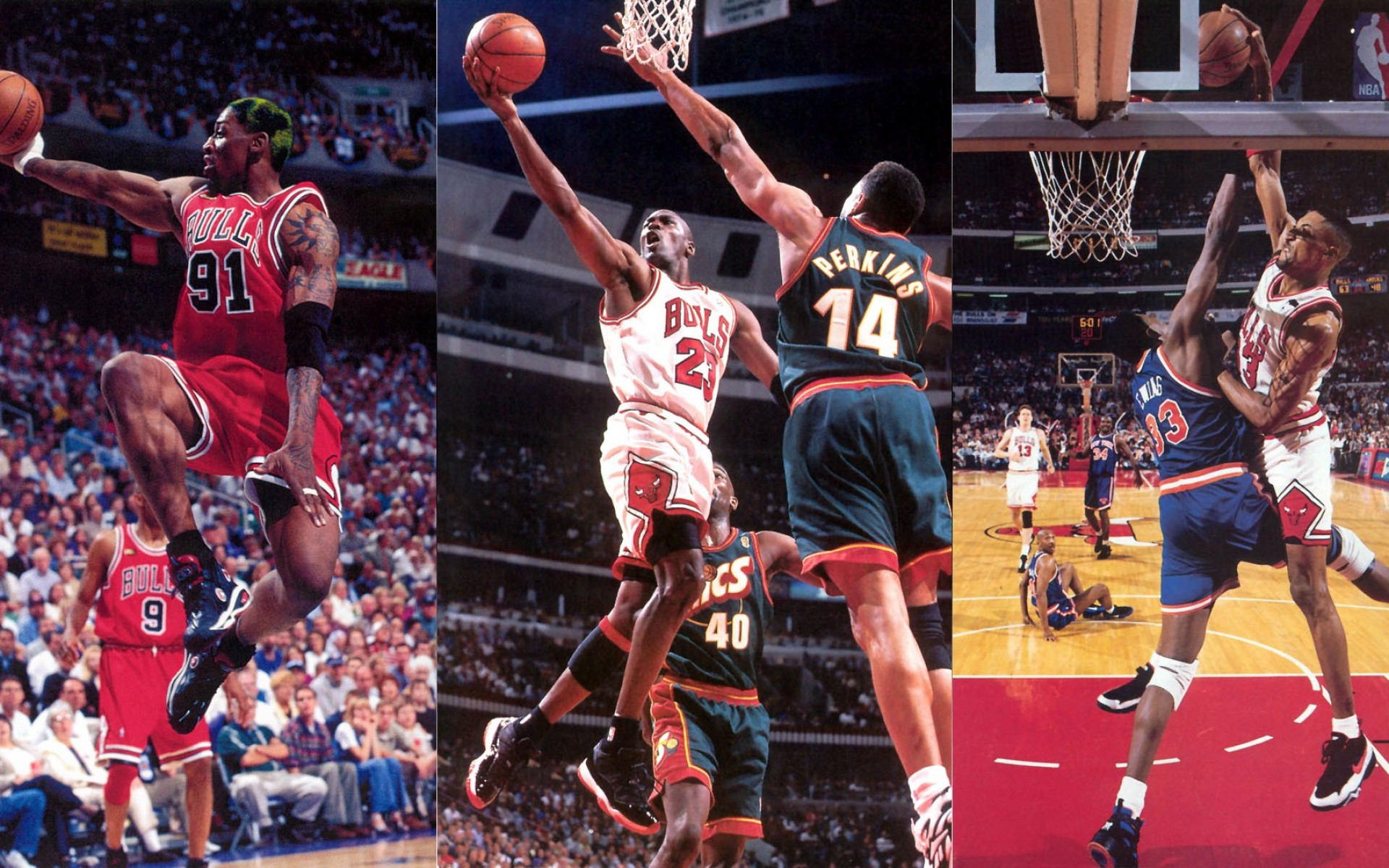 Wallpapers NBA Collage Chicago Bulls.