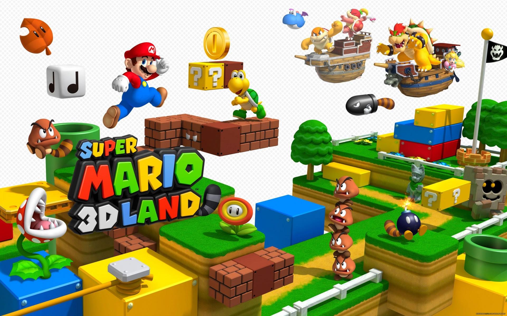 Wallpaper Super Mario Land 3D.