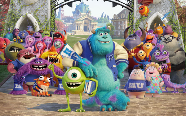 Fondo de Pantalla Monsters University.