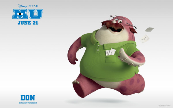 Wallpapers Monsters University Don Carlson