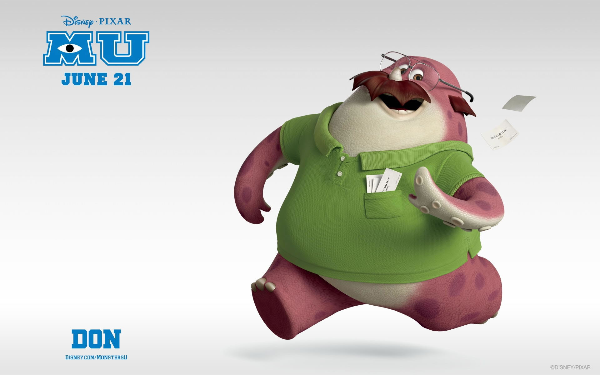 Wallpapers Monster University Don Carlson