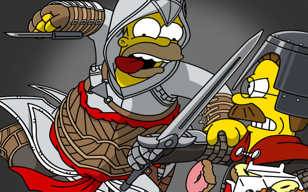 Homer Simpson versión Assassins Creed