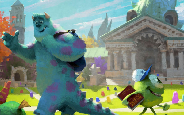 Ilustraciones Monsters University.