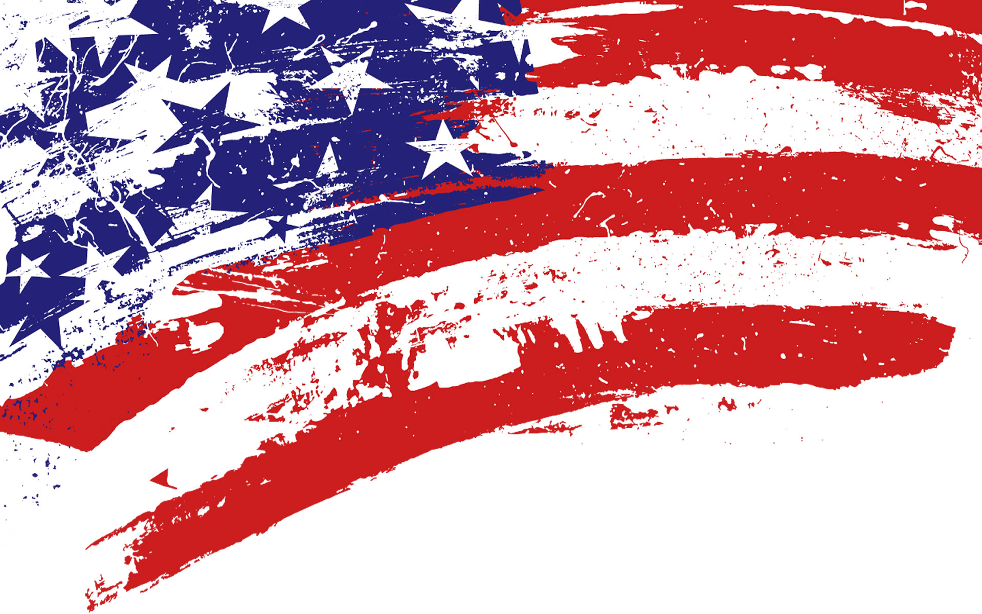 Bandera Americana Minimalista.