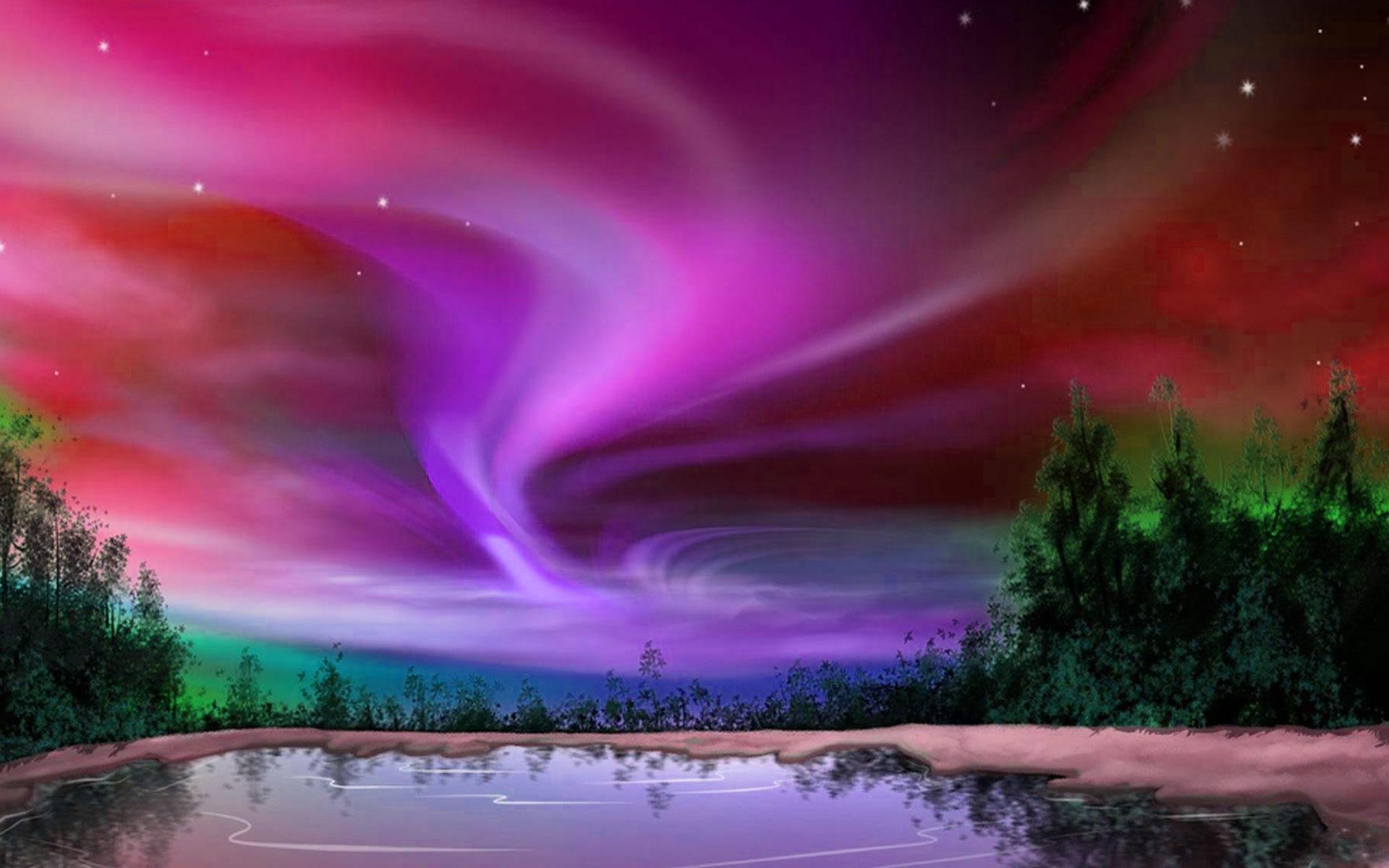 Fondo Aurora Boreal
