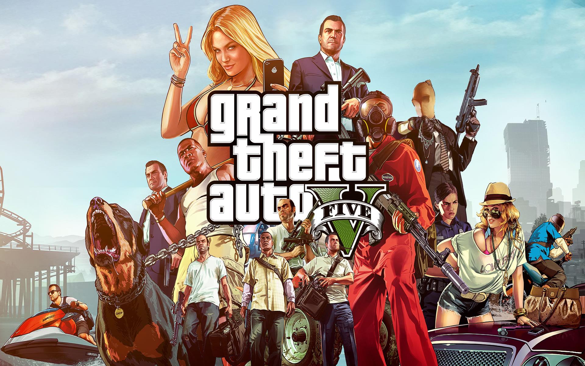 Fondos de Videojuegos. GTA V.