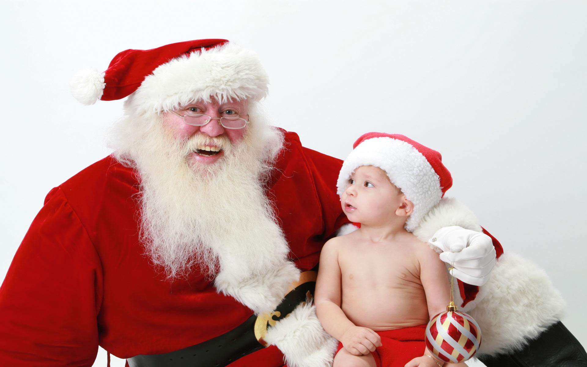 Bebé con Papá Noel