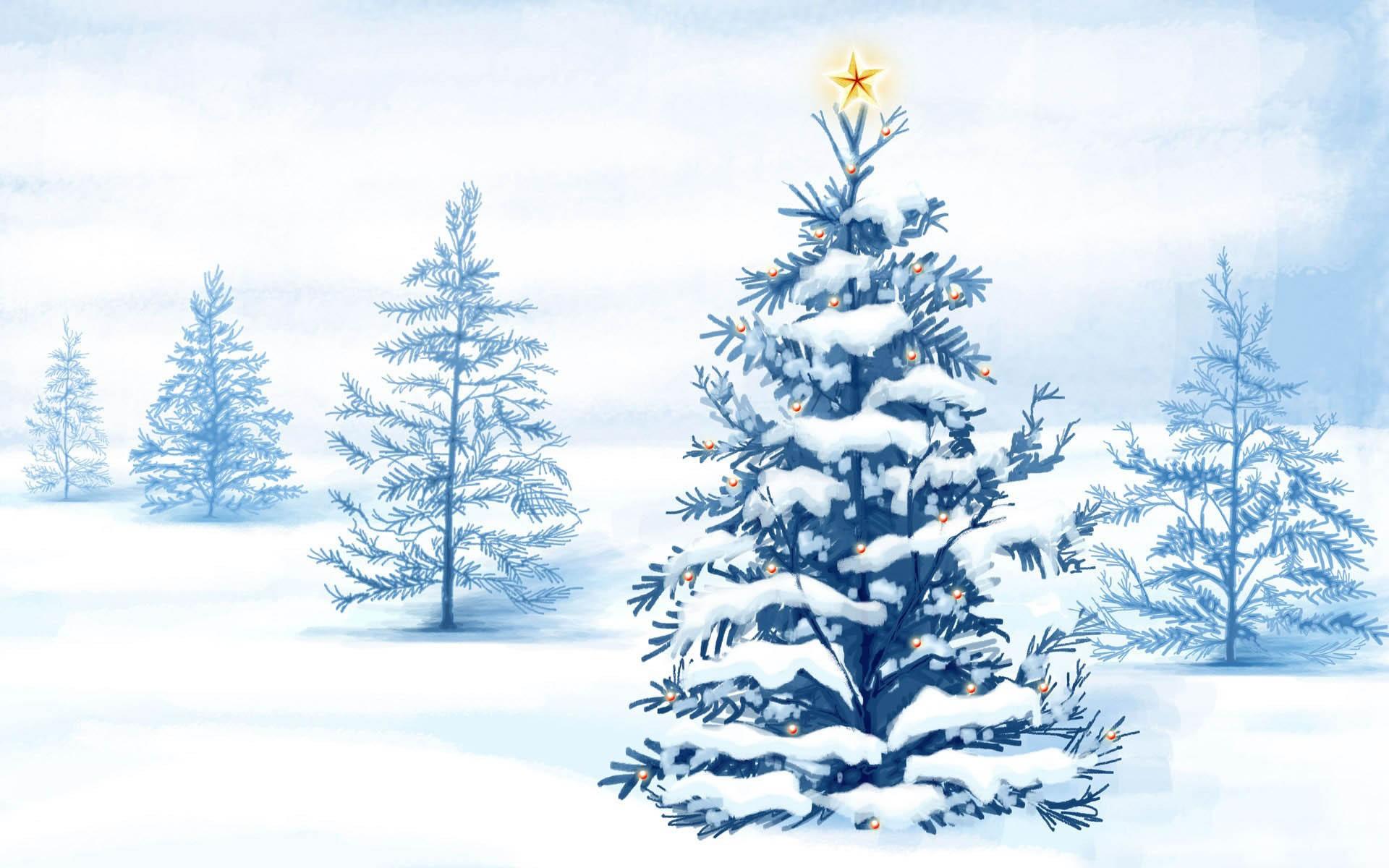 Christmas Tree Fondo