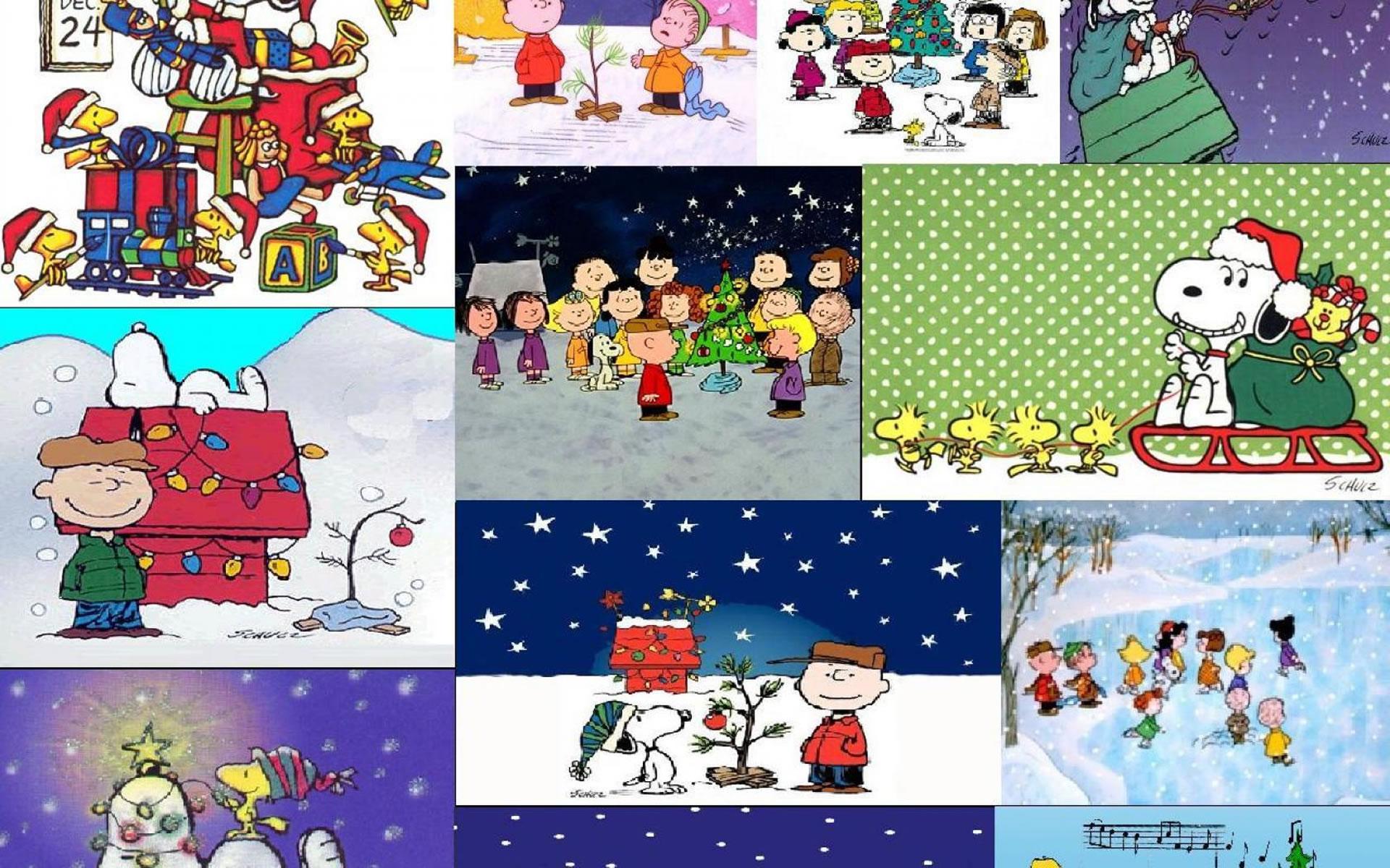 Collage de Navidad Snoopy.