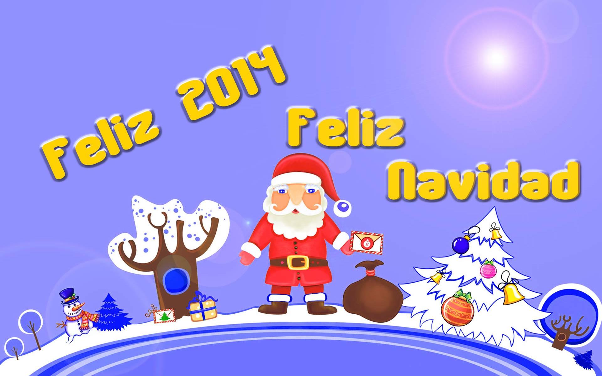 Fondo Pantalla Feliz 2014 y Feliz Navidad