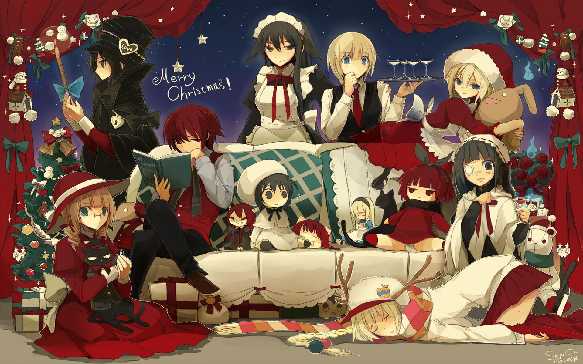 Merry Christmas Anime Wallpaper