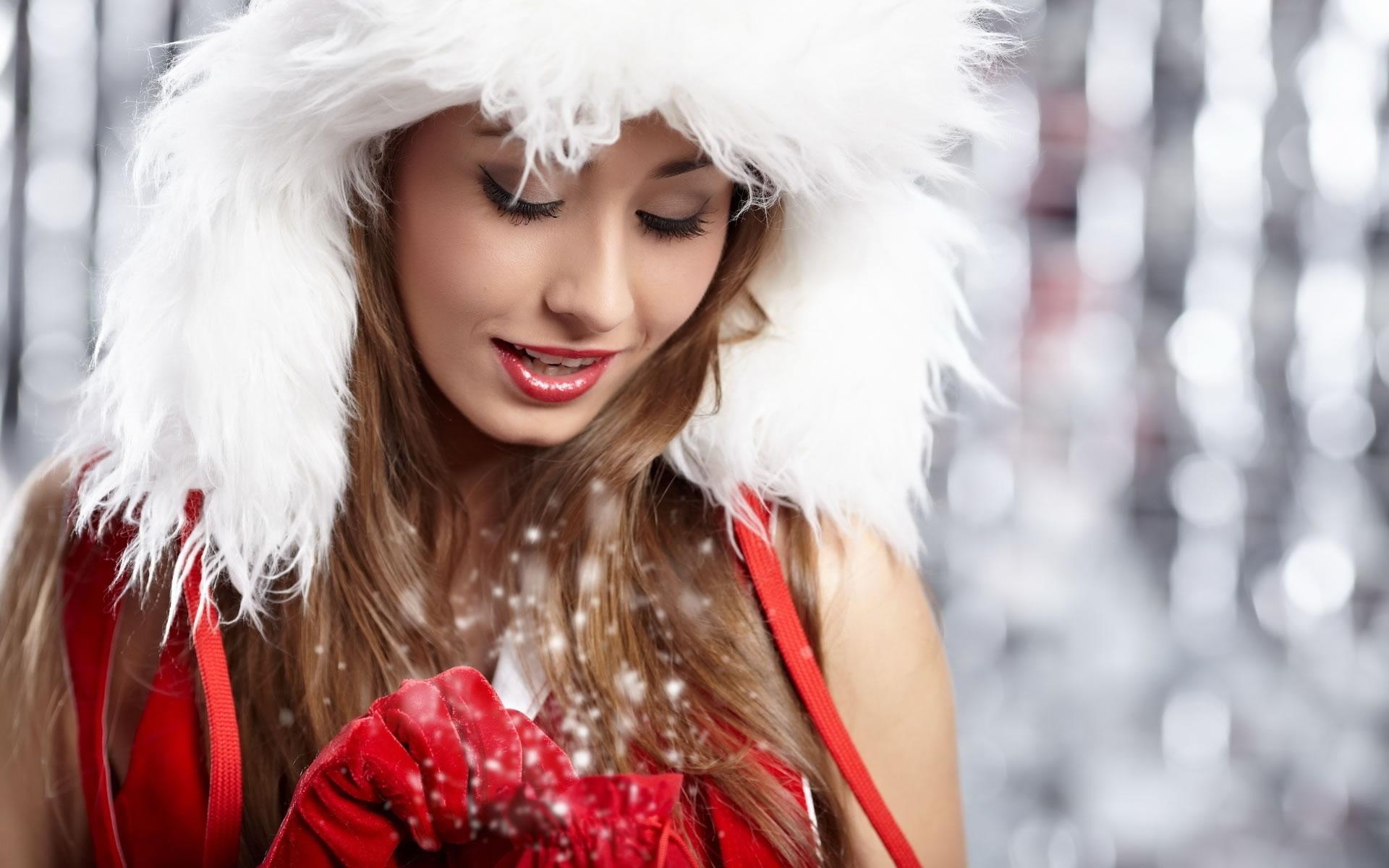 Sensuales Santa Girls Wallpaper.