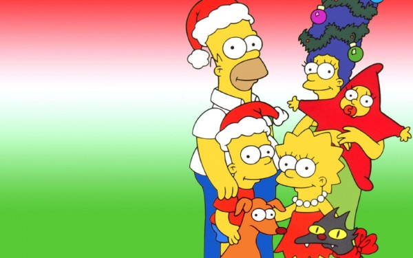 The Simpsons Christmas Wallpapers.