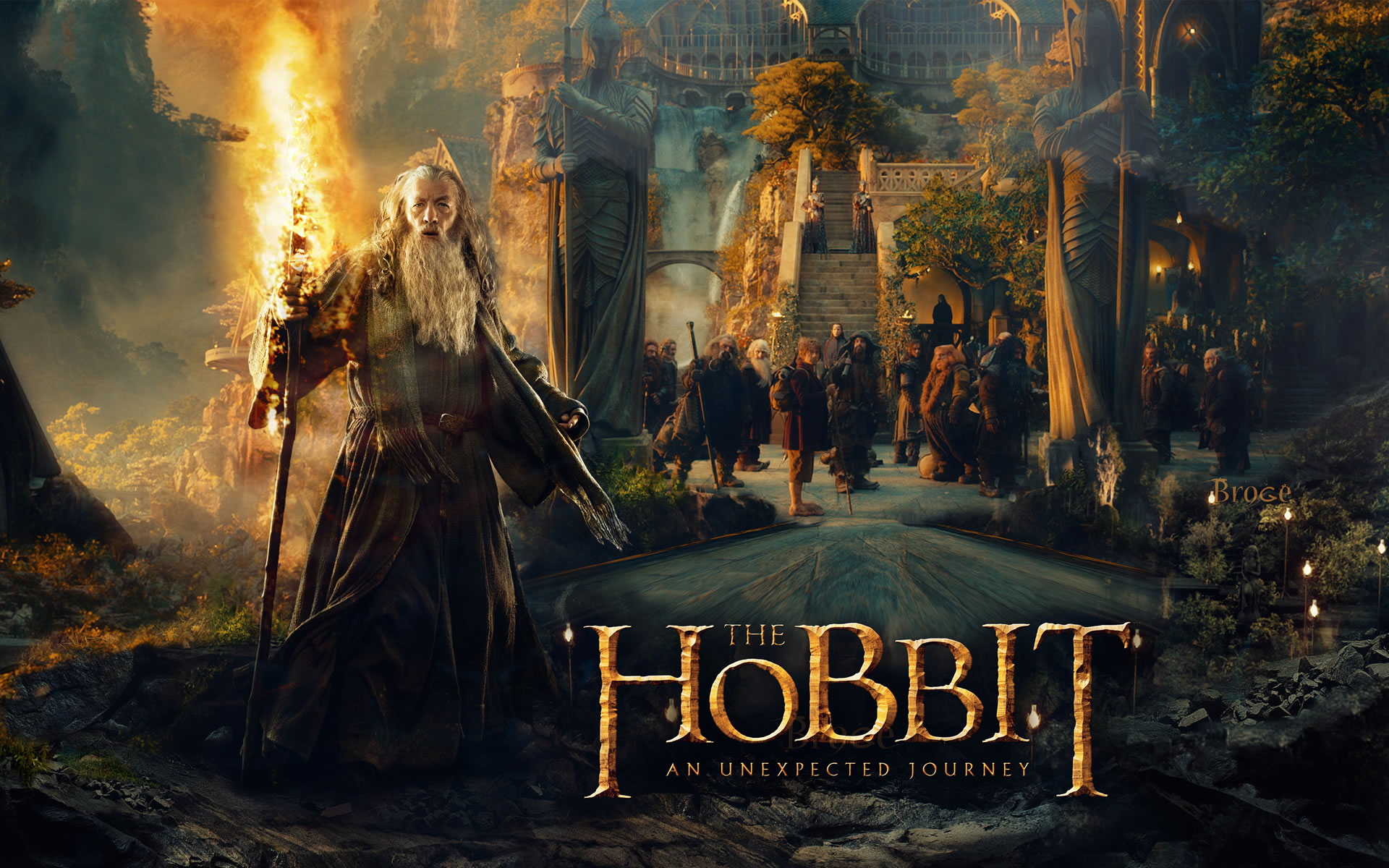 Wallpaper EL Hobbit Desolation of Smaug.