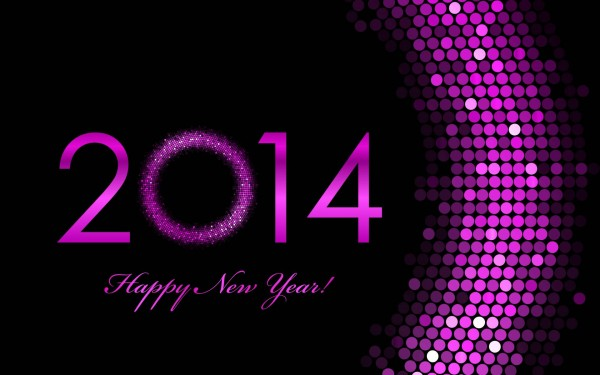Wallpaper Happy New Year 2014.