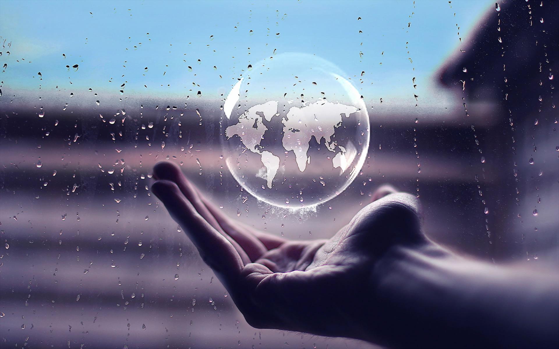 Fotomontaje El Mundo en tus mano