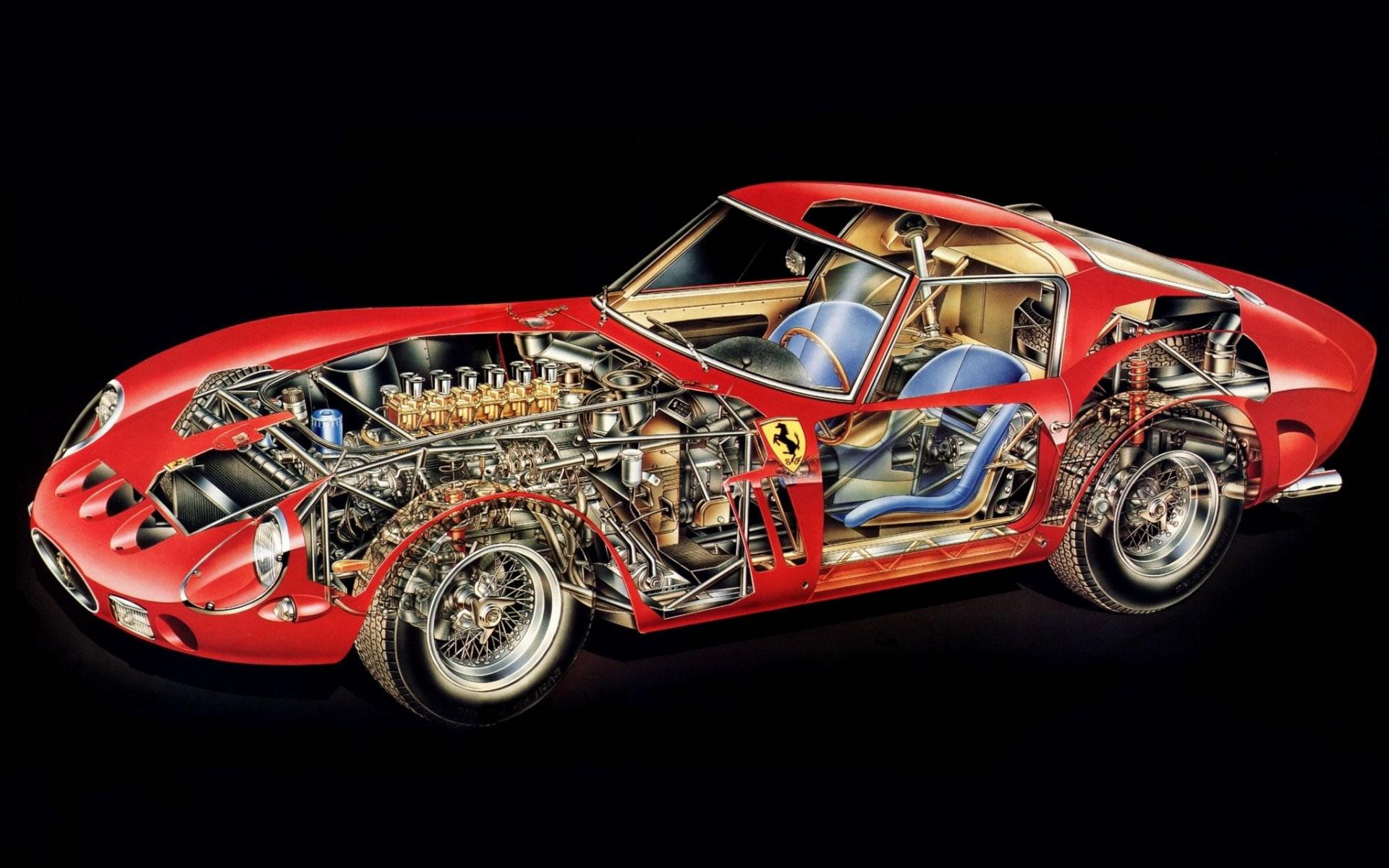 Ferrari 250 GTO por dentro