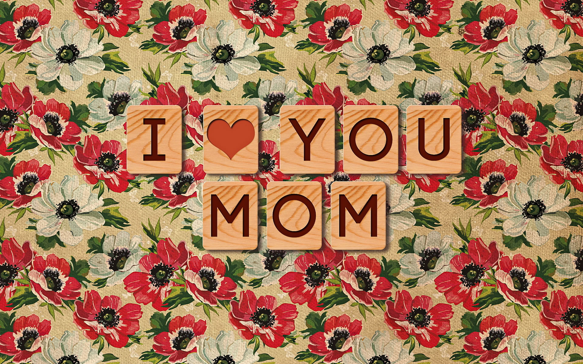 I love you mom fondo floral