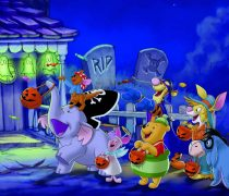 Winnie the Pooh celebrando Halloween