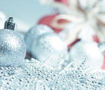 Adornos de Navidad Plateados