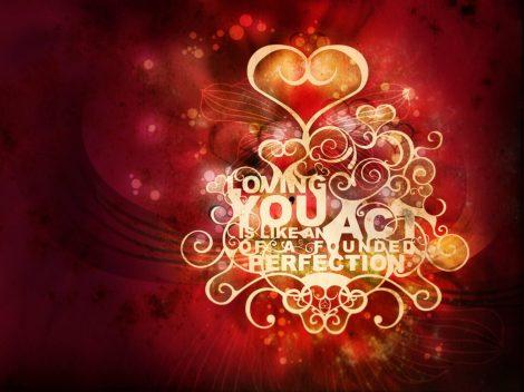 Amarte es como encontrar la perfección