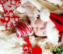 Bebé Noel Durmiendo en Navidad.