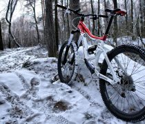 Bicicleta Mountain Bike en la Nieve