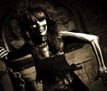 Chica Calavera Fondo Halloween