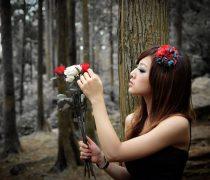 Chica en el Bosque.
