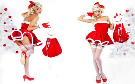 Chicas Santa Claus Hermosas