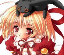 Chiquilla Anime en Navidad