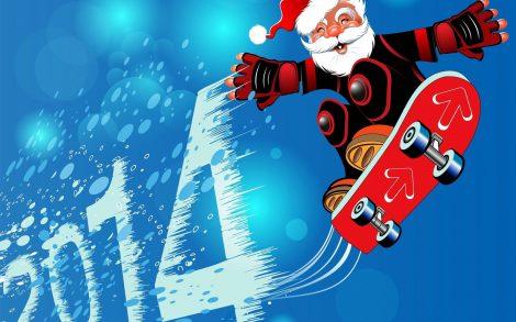 Santa Claus te desea un Divertido 2014.